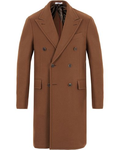 Boglioli Double Breasted Wool Coat Camel i gruppen Jackor / Vinterjackor hos Care of Carl (13073211r)