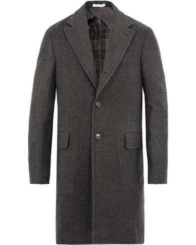 Boglioli Glen Plaid Silk Coat Dark Grey i gruppen Klær / Jakker / Vinterjakker hos Care of Carl (13073411r)