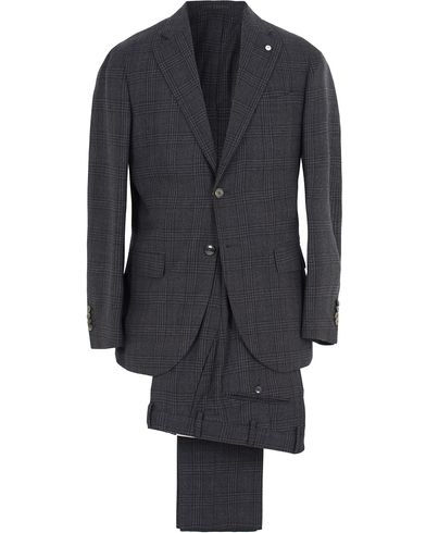 L.B.M. 1911 Glencheck Wool Suit Dark Grey i gruppen Klær / Dresser hos Care of Carl (13074011r)