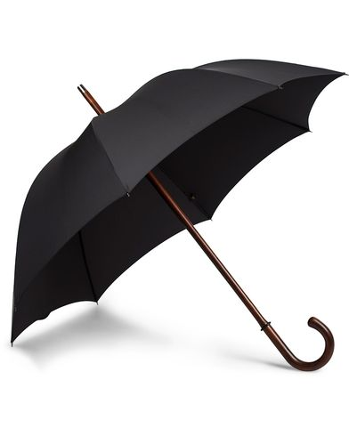 Fox Umbrellas Polished Cherrywood Solid Umbrella Black  i gruppen Assesoarer / Paraplyer hos Care of Carl (13075010)