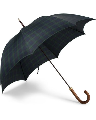 Fox Umbrellas Hardwood Umbrella Blackwatch Tartan  i gruppen Accessoarer / Paraplyn hos Care of Carl (13075110)