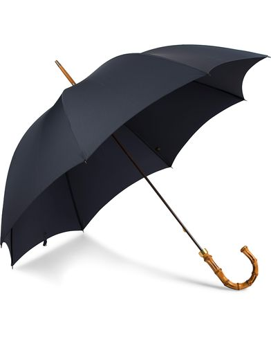 Fox Umbrellas Whangee Umbrella Dark Navy  i gruppen Accessoarer / Paraplyn hos Care of Carl (13075210)