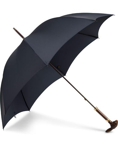 Fox Umbrellas Brown Rabbit Umbrella Navy  i gruppen Assesoarer / Paraplyer hos Care of Carl (13075310)