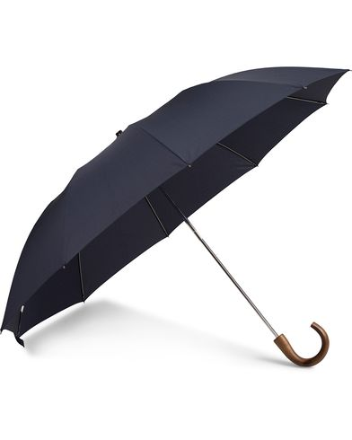 Fox Umbrellas Telescopic Umbrella Navy  i gruppen Accessoarer / Paraplyn hos Care of Carl (13075510)