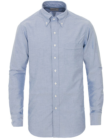 Drake's Slim Fit Oxford BD Shirt Blue i gruppen Skjortor / Oxfordskjortor hos Care of Carl (13076811r)