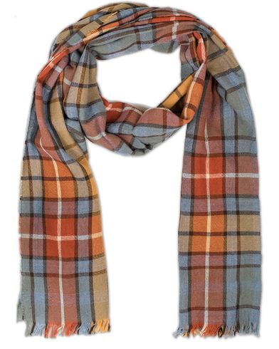 Drake's Lightweight Merino Scarf with Crinkle Multi Colour  i gruppen Assesoarer / Scarves hos Care of Carl (13078810)