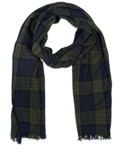 Drake's Lightweight Merino Scarf with Crinkle Black Watch  i gruppen Assesoarer / Scarves hos Care of Carl (13078910)