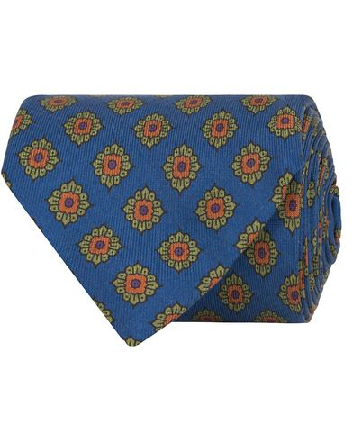 Drake's Flower Silk 8 cm Tie Blue  i gruppen Accessoarer / Slipsar hos Care of Carl (13082110)