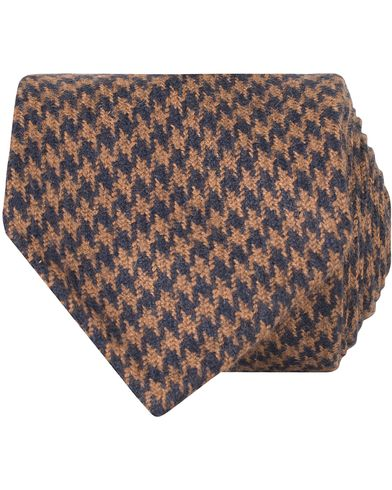 Drake's Dogtooth Camel/Wool 8 cm Tie Orange  i gruppen Assesoarer / Slips hos Care of Carl (13082510)