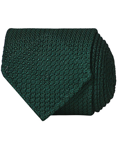 Drake's Grenadine Silk 8 cm Tie Green  i gruppen Accessoarer hos Care of Carl (13083910)