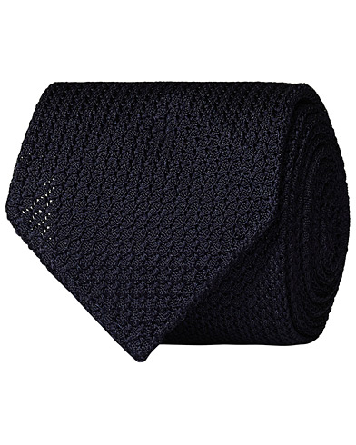 Drake's Grenadine Silk 8 cm Tie Navy  i gruppen Assesoarer / Slips hos Care of Carl (13084010)