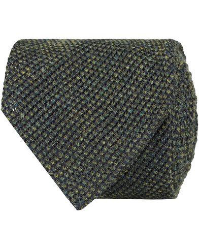 Drake's Untipped Grenadine Wool/Silk 8 cm Tie Green  i gruppen Assesoarer / Slips hos Care of Carl (13084610)