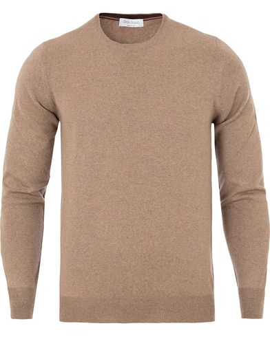 Gran Sasso Merino Fashion Fit C-Neck Pullover Camel i gruppen Klær / Gensere hos Care of Carl (13085911r)