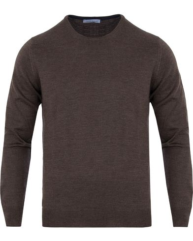 Gran Sasso Merino Fashion Fit C-Neck Pullover Brown i gruppen Gensere / Pullover / Pullover rund hals hos Care of Carl (13086011r)