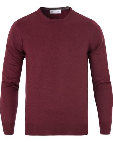 Gran Sasso Merino Fashion Fit C-Neck Pullover Bordeaux Red i gruppen Gensere / Pullover / Pullovere rund hals hos Care of Carl (13086111r)