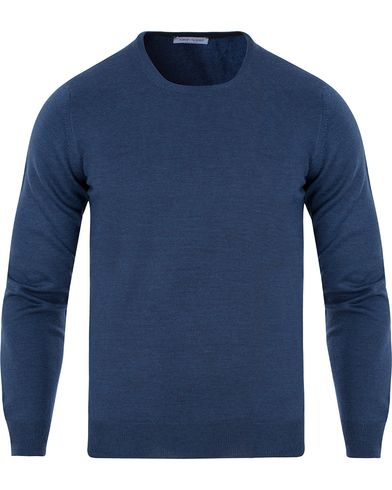 Gran Sasso Merino Fashion Fit C-Neck Pullover Blue i gruppen Tröjor / Pullovers / Rundhalsade pullovers hos Care of Carl (13086311r)