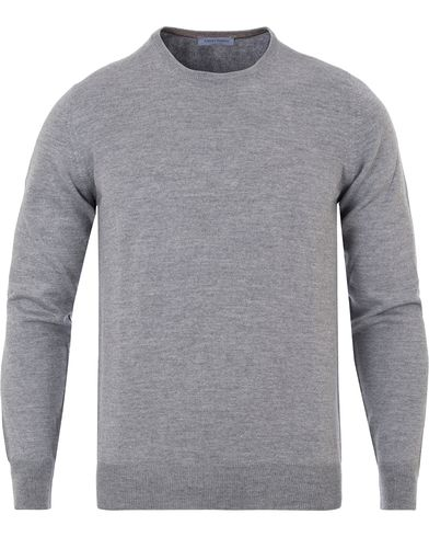Gran Sasso Merino Fashion Fit C-Neck Pullover Light Grey i gruppen Tröjor / Pullovers / Rundhalsade pullovers hos Care of Carl (13086411r)