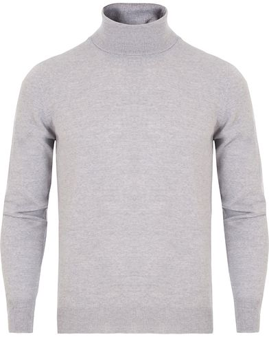 Gran Sasso Merino Fashion Fit Roll Neck Light Grey i gruppen Gensere / Pologensere hos Care of Carl (13086511r)