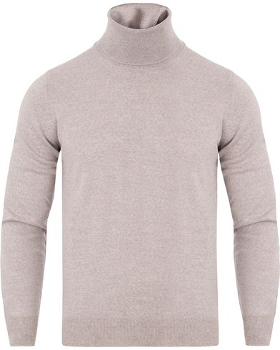 Gran Sasso Merino Fashion Fit Roll Neck Off White Grey i gruppen Gensere / Pologensere hos Care of Carl (13086611r)