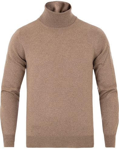 Gran Sasso Merino Fashion Fit Roll Neck Camel i gruppen Klær / Gensere / Pologensere hos Care of Carl (13086711r)