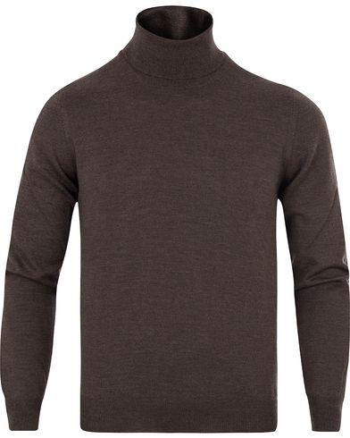 Gran Sasso Merino Fashion Fit Roll Neck Brown i gruppen Tr�jor / Polotr�jor hos Care of Carl (13086811r)