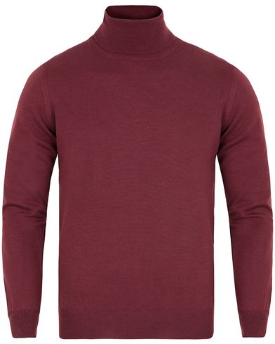 Gran Sasso Merino Fashion Fit Roll Neck Bordeaux Red i gruppen Kläder / Tröjor / Polotröjor hos Care of Carl (13086911r)
