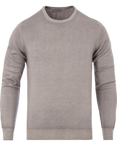 Gran Sasso Merino Vintage Fashion Fit C-Neck Pullover Light Brown i gruppen Kläder / Tröjor / Pullovers / Rundhalsade pullovers hos Care of Carl (13087111r)