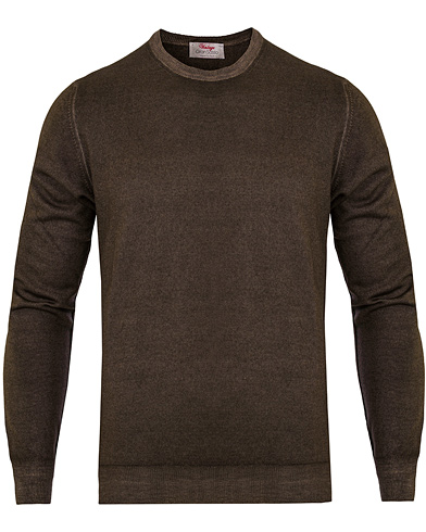 Gran Sasso Merino Vintage Fashion Fit C-Neck Pullover Brown i gruppen Tröjor / Pullovers / Rundhalsade pullovers hos Care of Carl (13087211r)