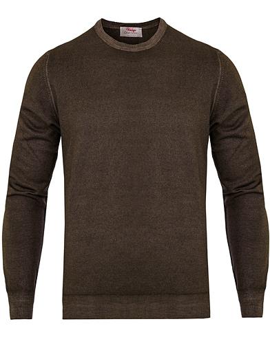 Gran Sasso Merino Vintage Fashion Fit C-Neck Pullover Brown i gruppen Kläder / Tröjor / Pullovers / Rundhalsade pullovers hos Care of Carl (13087211r)