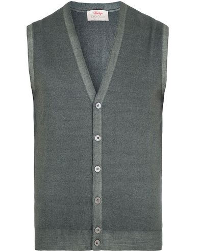 Gran Sasso Merino Vintage Fashion Fit Gilet Grey i gruppen Gensere / Slipover hos Care of Carl (13087611r)
