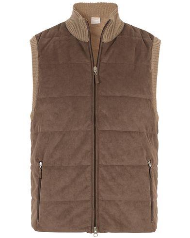 Gran Sasso Wool/Suede Vest Brown i gruppen Jakker / Yttervester hos Care of Carl (13087811r)