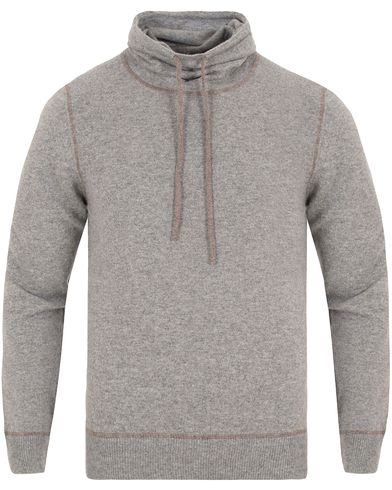 Gran Sasso Cashmere Shawl Collar Pullover Light Grey i gruppen Tröjor / Stickade tröjor hos Care of Carl (13088311r)