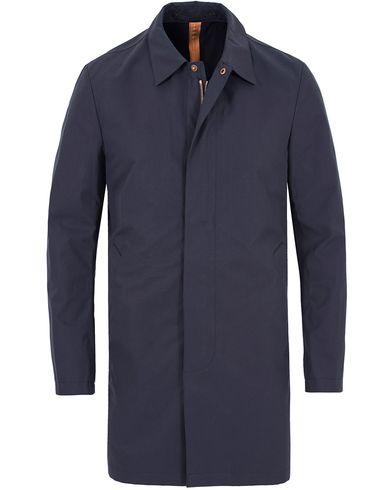 Private White V.C. Unlined Ventile® Mac Coat Navy i gruppen Jakker / Frakker hos Care of Carl (13088711r)