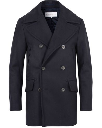 Private White V.C. Manchester Peacoat Navy i gruppen Jakker / Skipperjakker hos Care of Carl (13088811r)