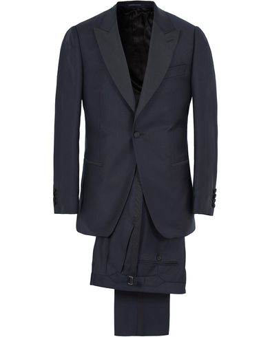 Gieves & Hawkes Peak Lapel Wool Dinner Suit Navy i gruppen Design A / Dresser / Smoking hos Care of Carl (13089611r)