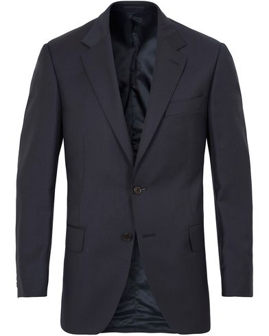 Gieves & Hawkes Wool Blazer Navy i gruppen Kavajer / Kostymkavajer hos Care of Carl (13089811r)