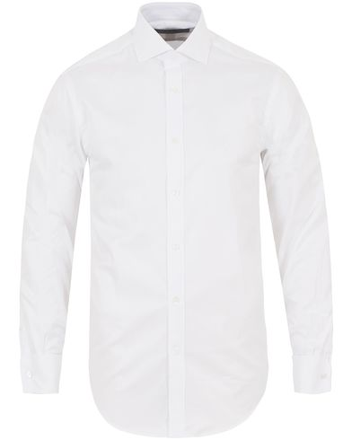 Gieves & Hawkes Tailored Fit Double Cuff Shirt White i gruppen Skjorter / Formelle skjorter hos Care of Carl (13090111r)