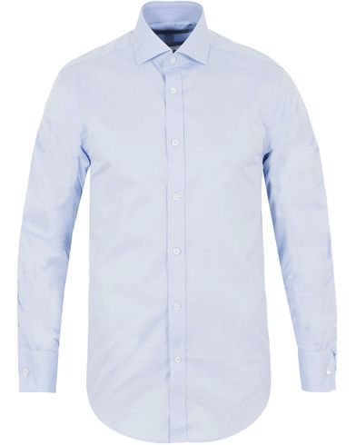 Gieves & Hawkes Tailored Fit Double Cuff Shirt Blue i gruppen Kläder / Skjortor / Formella skjortor hos Care of Carl (13090211r)