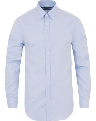 Gieves & Hawkes Tailored Fit Button Down Shirt Blue i gruppen Skjorter / Casual Skjorter hos Care of Carl (13090311r)