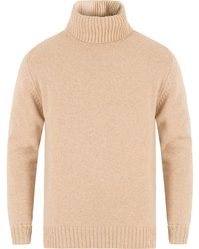 Gieves & Hawkes Cashmere Mouline Roll Neck Sand i gruppen Gensere / Pologensere hos Care of Carl (13090911r)