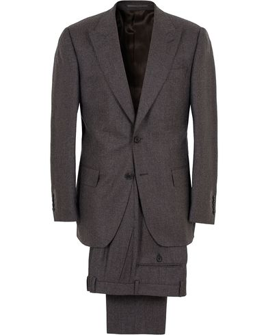 Gieves & Hawkes Peak Lapel Flannel Suit Charcoal i gruppen Kostymer hos Care of Carl (13091211r)
