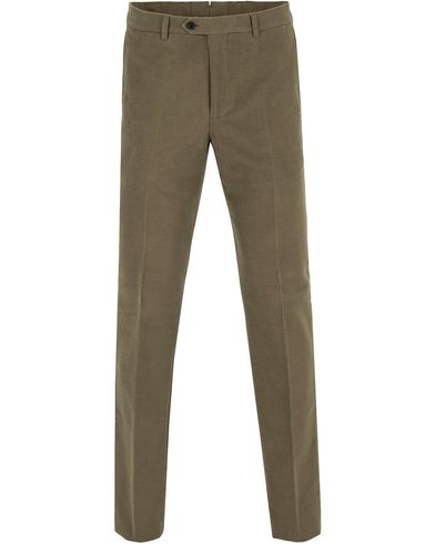 Gieves & Hawkes Slim Fit Moleskin Chino Khaki i gruppen Byxor / Chinos hos Care of Carl (13091511r)