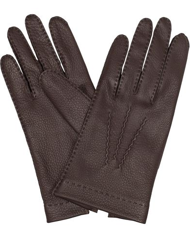 Dents The Heritage Collection Alton Unlined Deerskin Glove Bark i gruppen Sesongens n�kkelplagg / Hanskene til spaserturen hos Care of Carl (13092311r)
