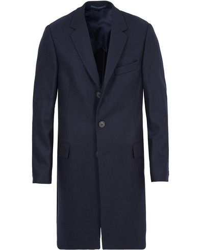 Gieves & Hawkes Lesser Wool Coat Navy i gruppen Jackor / Vinterjackor hos Care of Carl (13092611r)