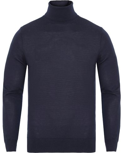 Gieves & Hawkes Cashmere/Silk/Wool-Blend Roll Neck Navy i gruppen Gensere / Pologensere hos Care of Carl (13093011r)