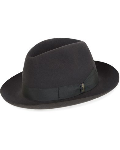 Borsalino Fedora Felt Hat Medium Brim Tritone Dark Grey i gruppen Assesoarer / Caps / Hatter hos Care of Carl (13093311r)