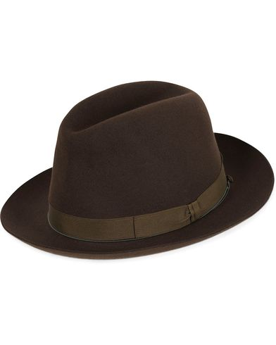 Borsalino Fedora Vicu�a/Rabbit Felt Hat Folco Dark Brown i gruppen Accessoarer / Hattar hos Care of Carl (13093411r)