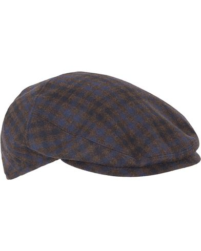 Borsalino Check Flat Cap Brown i gruppen Assesoarer / Caps / Sixpence hos Care of Carl (13093511r)