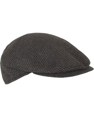 Borsalino Houndstooth Flat Cap Grey i gruppen Assesoarer / Caps / Sixpence hos Care of Carl (13093611r)