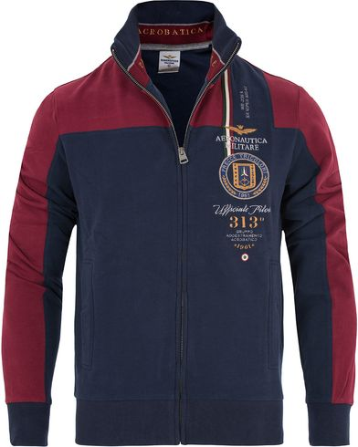 Aeronautica FE1122 Felpa Full Zip Navy/Red i gruppen Klær / Gensere / Zip-gensere hos Care of Carl (13094711r)